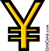 Vector Clip Art picture  of a Symbol of Japanese Yen