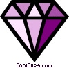 Symbol of a diamond Vector Clipart illustration