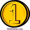 Vector Clip Art image  of a Symbol of a coin