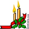 Christmas candles Vector Clipart picture
