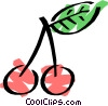 Vector Clipart image  of a Cherries