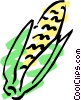 Vector Clip Art image  of a Corn on the cob