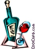 Vector Clip Art picture  of a Wine bottle