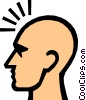 Symbol of a man's head Vector Clipart graphic