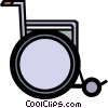 Symbol of a wheelchair Vector Clipart illustration