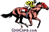 Vector Clip Art image  of a Race horse