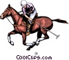 Polo player Vector Clipart illustration