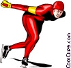 Vector Clip Art graphic  of a Speed skating