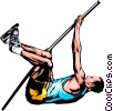 Pole vaulter Vector Clipart picture