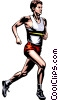 Vector Clipart picture  of a Track & field runner