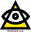 Symbol of all seeing eye Vector Clip Art image