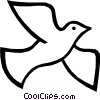 Vector Clip Art image  of a Symbol of a dove