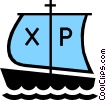 Vector Clipart graphic  of a Symbol of boat