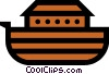 Vector Clipart graphic  of a Symbol of Noah's Ark