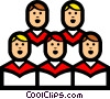 Symbol of a church choir Vector Clipart illustration