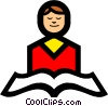 Symbol of person reading from scriptures Vector Clip Art picture