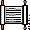 Vector Clipart graphic  of a Symbol of sacred scrolls