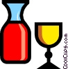 Symbol of wine and chalice Vector Clipart image
