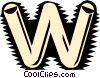 Tube font Vector Clip Art picture
