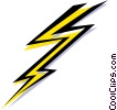 Lightening Vector Clip Art graphic