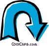 Vector Clip Art graphic  of a Cool arrows