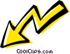 Cool arrow Vector Clip Art image