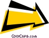 Vector Clipart graphic  of a Cool arrow