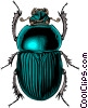 Vector Clip Art graphic  of a Beetle