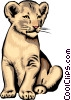Lion cub Vector Clipart picture