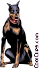 Vector Clip Art picture  of a Doberman Pinscher dog