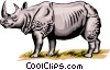Rhinoceros Vector Clipart picture