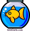 Vector Clip Art graphic  of a Symbol of a fishbowl