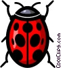Vector Clip Art graphic  of a Symbol of a ladybug