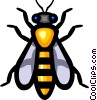 Symbol of a wasp Vector Clipart image