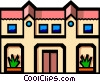Symbol of a house Vector Clipart illustration