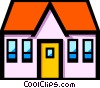 Vector Clip Art image  of a Symbol of a house