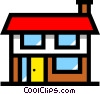 Vector Clipart image  of a Symbol of a house