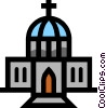 Vector Clipart image  of a Symbol of a church