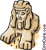 Vector Clipart graphic  of a Sphinx