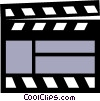 Symbol of a clapper board Vector Clipart illustration