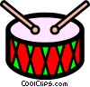 Symbol of a drum Vector Clipart picture
