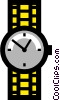 Vector Clipart graphic  of a Symbol of a watch