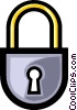 Vector Clip Art picture  of a Symbol of a lock