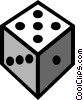 Symbol of dice Vector Clipart illustration