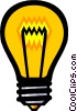 Symbol of a light bulb Vector Clipart graphic