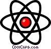 Symbol of an atom Vector Clipart illustration
