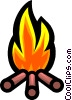 Symbol of a campfire Vector Clip Art picture