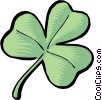 Symbol of a shamrock Vector Clip Art picture