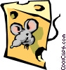 Vector Clipart illustration  of a Cheese with mouse