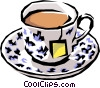Vector Clip Art image  of a Tea
